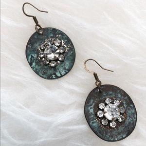 Jewelry - Blue Green Antique Finish Earrings